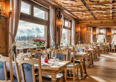 Innenansicht des Restaurants Forsthaus am See